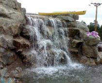 The main waterfall pumps 500 gallons per minute!