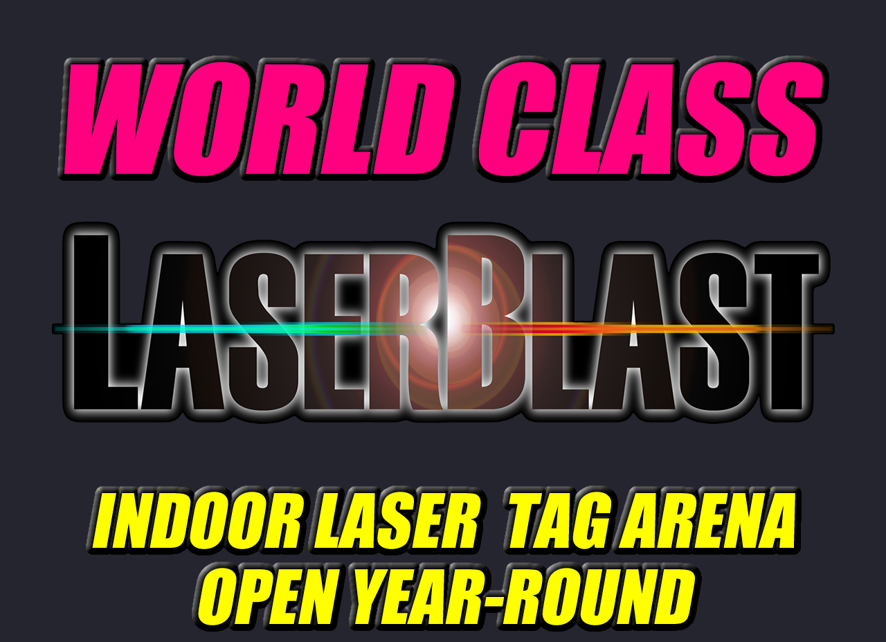 "<span style=""font-weight: bold;"">YEAR-ROUND LASER TAG&nbsp;</span><span style=""font-weight: bold;"">arena with a.i.</span>"