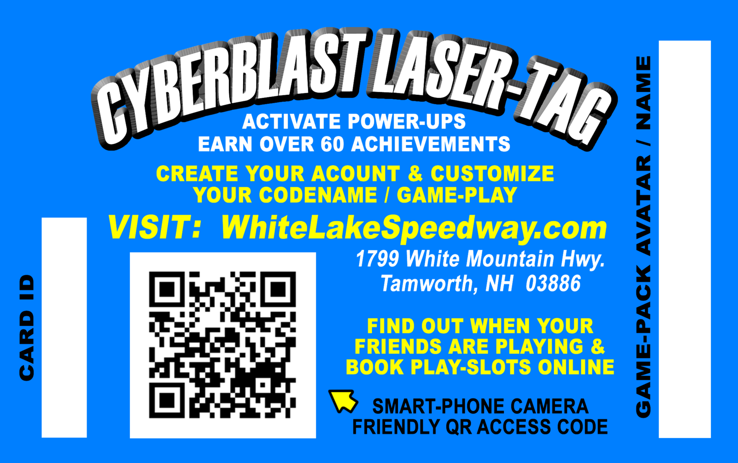 Cyberblast ID Cards (Back)