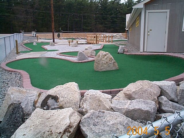 Hole #2 & 3 (by the entrance) at White Lake Speedway Inc. Family FUN center!