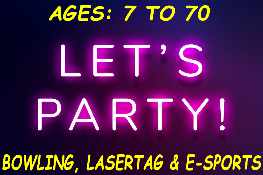 "PARTY: ""AGES 7 TO 70"" (Deposit Amt. Varies)"