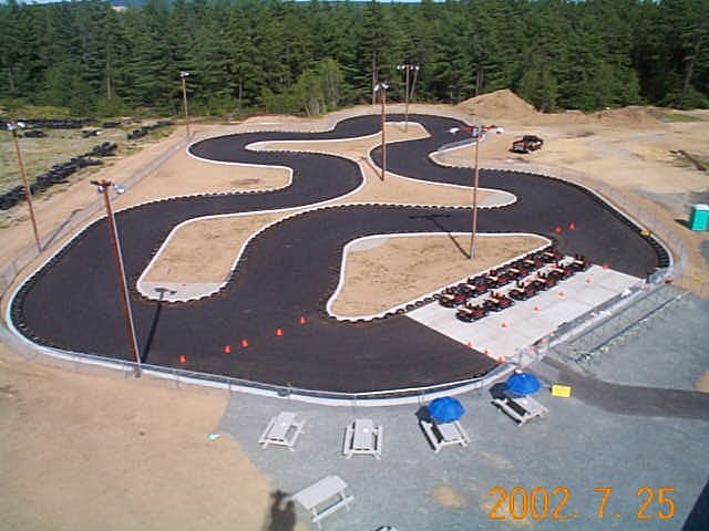 Here's an overhead view of the track when we first opened.  (2 years before adding the golf course)