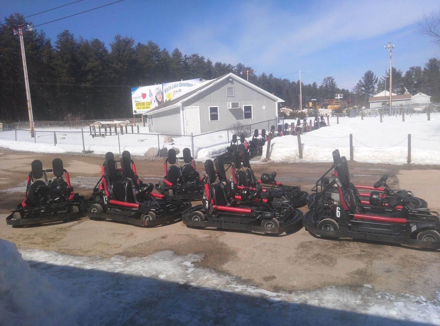 Early spring, go-karts head for service in preparation to be licensed by the State of NH Dept. of Safety!