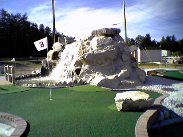 Original photo of the main waterfall back in 2004.  (The year we added the golf course.)