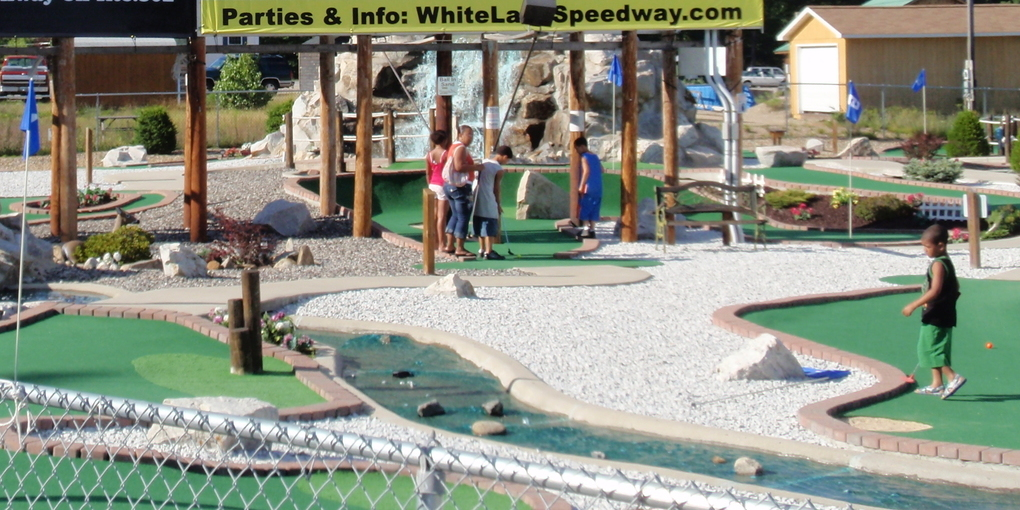 "<span style=""font-weight: bold;"">""CHAMPIONSHIP GRADE"" 18 HOLE MINI-GOLF</span>"